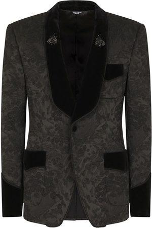 Dolce & Gabbana Floral jacquard single-breasted blazer