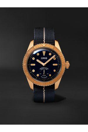Oris Homem Relógios - Carl Brashear Limited Edition Automatic 40mm Bronze and MN Stretch-Nylon Webbing Watch, Ref. No. 01 401 7764 3185-Set