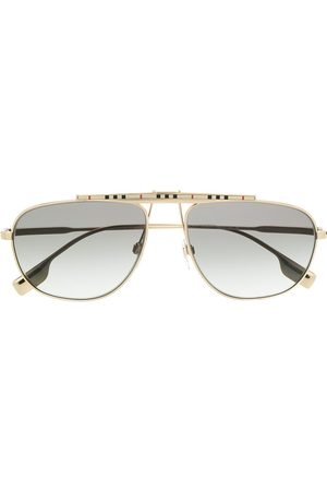 Burberry Eyewear Icon stripe aviator-frame sunglasses
