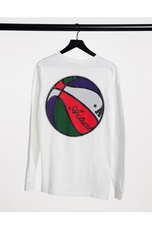 ASOS Long sleeve t-shirt in white with back print