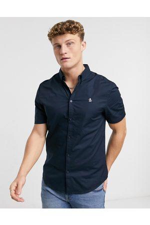 Original Penguin Poplin short sleeve shirt-Navy