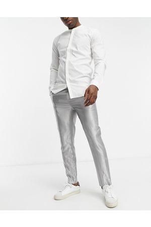 HUGO BOSS HUGO German 194 wool regular fit trousers-Beige