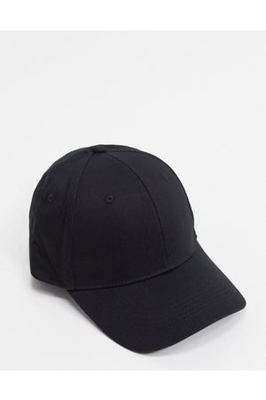 ASOS DESIGN Baseball cap in black cotton