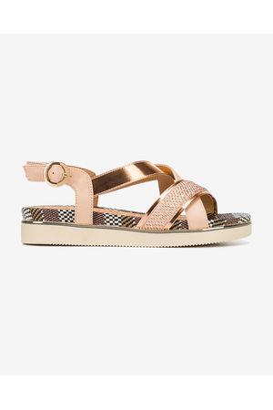Wrangler Senhora Sandálias - Twist Karen Cross Sandals Black Pink