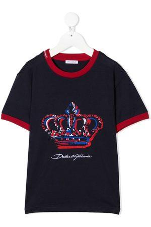 Dolce & Gabbana Menino T-shirts & Manga Curta - Crown-print T-shirt