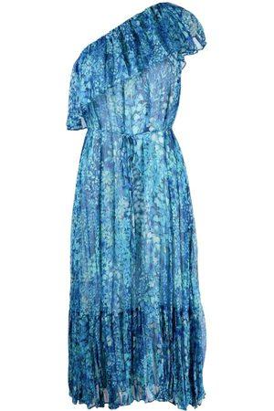 Twin-Set Senhora Vestidos Casual - Floral-print one shoulder dress