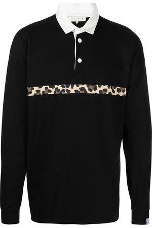 MACKINTOSH Leopard stripe rugby shirt