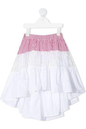 MONNALISA Panel-detail high-low skirt
