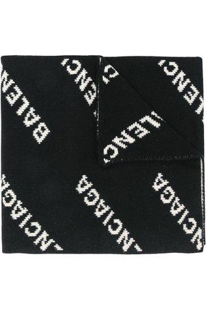 Balenciaga Intarsia logo oversize scarf