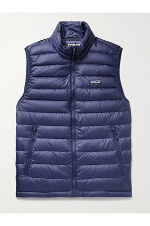 Patagonia Homem Casacos Outdoor - Slim-Fit Quilted DWR-Coated Recycled Ripstop Down Gilet