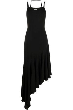 OFF-WHITE Asymmetric flared dress