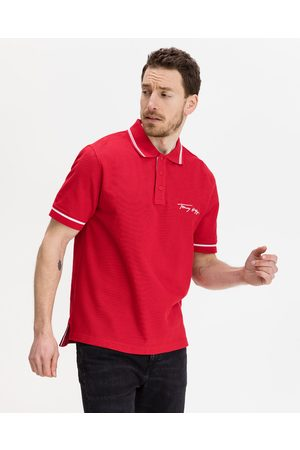 Tommy Hilfiger Tipped Signature Polo Shirt Red