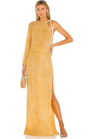 Jen's Pirate Booty Smoketree Maxi Dress in - Yellow. Size L (also in XS, S).