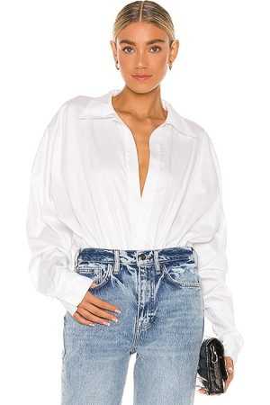 Norma Kamali Homem Casual - Oversized Boyfriend NK Shirt Bodysuit in - . Size M (also in XS, S).