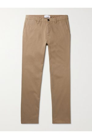 Mr P. Homem Calças Justas - Slim-Fit Stretch-Cotton Twill Chinos
