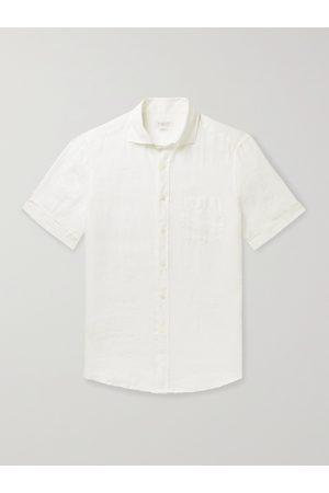Incotex Homem Formal - Garment-Dyed Linen Shirt