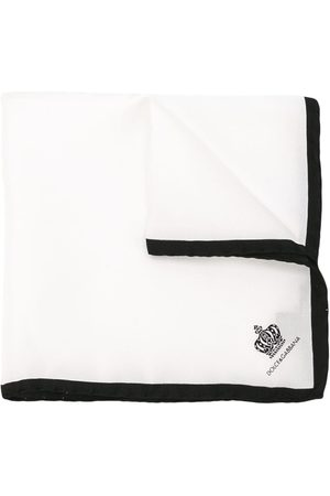 Dolce & Gabbana Homem Lenços de Bolso - Crown print pocket square