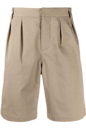 Saint Laurent Pleat-detail knee length shorts