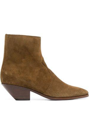 Saint Laurent Senhora Botins - West 45mm suede ankle boots