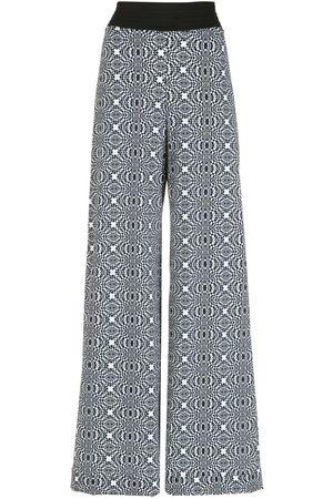 AMIR SLAMA Senhora Calças à Boca-de-sino - Printed wide-leg trousers