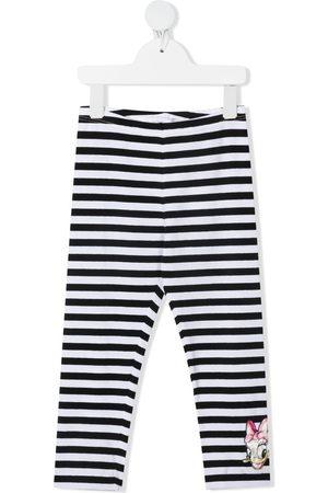 MONNALISA Menina Calças - Daisy Duck-print striped leggings
