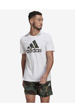adidas Homem T-shirts & Manga Curta - Essentials Camo T-shirt White