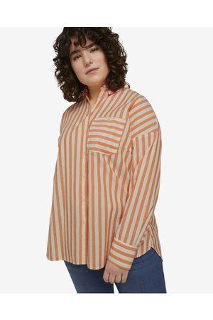 TOM TAILOR Shirt White Orange