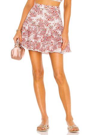 CHARO RUIZ IBIZA Natalie Mini Skirt in - Red. Size L (also in XS, S, M).