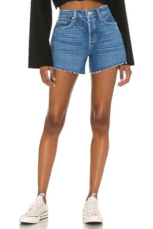 Paige Noella Cut Off Short in - Blue. Size 23 (also in 24, 25, 26, 27, 28, 29, 30).