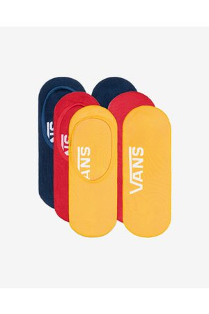 Vans Classic Super No Show Set of 3 pairs of socks Blue Red Yellow