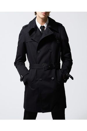 The Kooples Navy blue trench coat in cotton gabardine