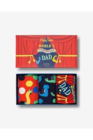 Happy Socks Homem Meias - Father´s Day Set of 3 pairs of socks Colorful