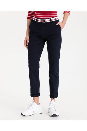 Tommy Hilfiger Senhora Calças Chino - Chino Trousers Blue