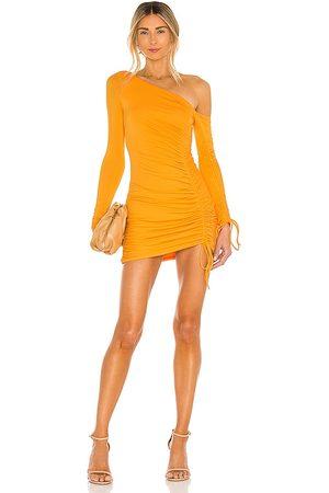 Camila Coelho Lena Mini Dress in - Tangerine. Size M (also in XXS).