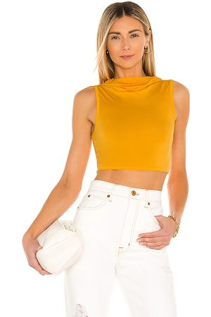 Camila Coelho Pixie Tank Top in - Mustard. Size L (also in XS, S, M).