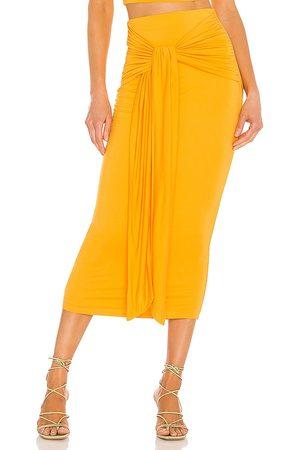 Camila Coelho Pixie Skirt in - Tangerine. Size L (also in S).