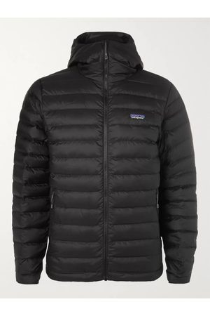 Patagonia Homem Casacos Outdoor - Quilted DWR-Coated Ripstop Hooded Down Jacket
