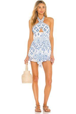 ROCOCO SAND Senhora Vestidos Compridos - Leas Cutout Dress in - White,Blue. Size M (also in S).