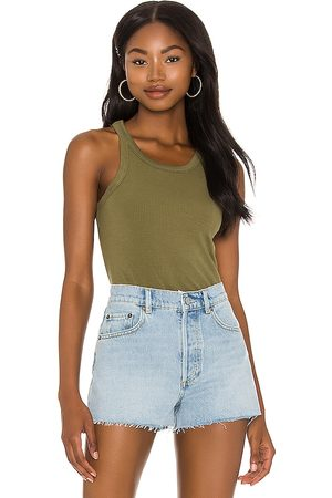Richer Poorer Senhora Tops de Cavas - Recycled Rib Tank in - Army. Size L (also in S, XS, M).