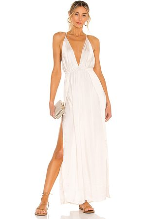 Indah River Maxi Dress in - Cream. Size M/L (also in S/M, XS/S).