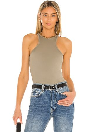 ANINE BING Morgan Tank in - Army. Size L (also in XS, S, M).