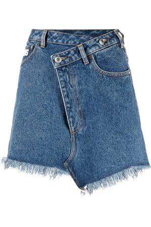 GCDS Senhora Saias de Ganga - Asymmetric denim skirt