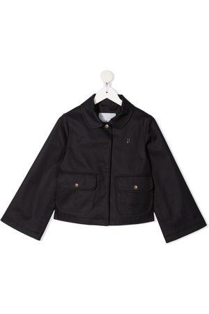 HERNO Menina Blazers - Logo-plaque long-sleeve jacket