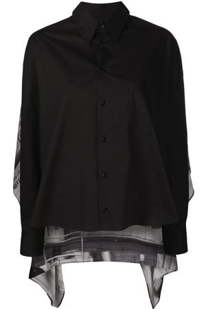 MM6 Maison Margiela Senhora Camisolas - Printed cape jumper