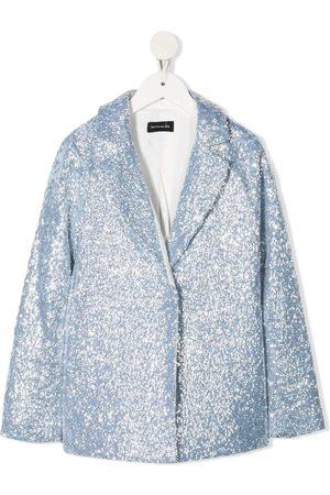 MONNALISA TEEN sequinned single-breasted blazer