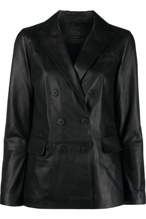 DESA 1972 Double-breasted leather jacket