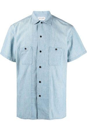 Saint Laurent Homem Manga curta - Short-sleeve button-fastening shirt