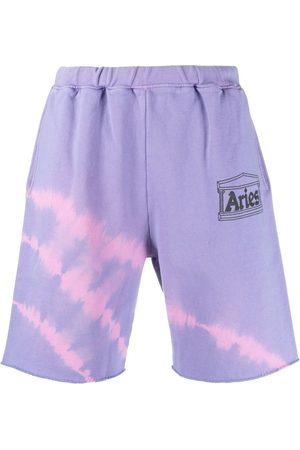 ARIES Tie-dye logo shorts