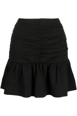 Ganni Senhora Mini-saias - Ruched mini skirt