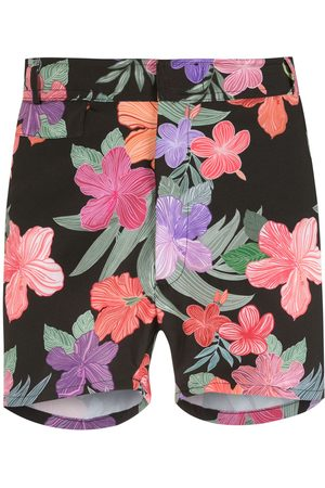 AMIR SLAMA Print Hibiscus shorts